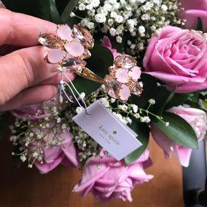 kate spade Jewelry - Kate Spade pink blooms open cuff bracelet